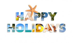 Graphic words to wish good holidays in french language